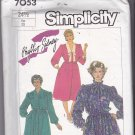 Simplicity 7053 Pattern 24-1/2 (Plus/Half) bust 47 Uncut Shirt Waist Dress