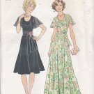 Simplicity 7383 Pattern 14.5 Half bust 37 Uncut Fit & FLare Dress, Capelet Style Collar Flutter