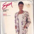 McCall's Stitch N Save 8021 Pattern 10 12 14 16 Uncut Boxy Unlined Jacket Sleeveless Dress