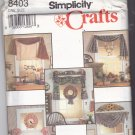 Simplicity Crafts 8403 Pattern Uncut Window Treatments and Chickens and Cows