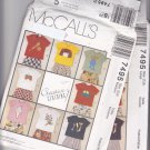 McCall's 7495 Pattern Uncut Large 7 8 T-Shirts Pants Shorts Children Kids Boys Girls