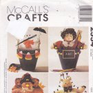 McCall's 2334 Pattern Halloween Thanksgiving Fall Decor Flower Pot Pals