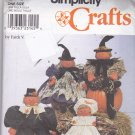 Simplicity 8791 Pattern Pilgrim Warlock Wizard Witch Dolls and Clothes Halloween Fall