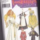 Simplicity 5375 Pattern Uncut Adult P S M L Costume Long Dress Apron Cape Collar Bonnet