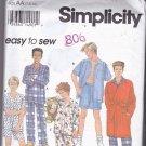 Simplicity 8794 Pattern Uncut Boys 7 8 10 Pajamas Robe Sleepwear Easy to Sew