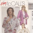 McCall's 4754 Pattern 18 20 Uncut Boxy Oversize Unlined Jacket Blazer Patch Pockets Rolled Cuff Plus