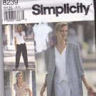 Simplicity 8239 Pattern 6 8 10 Uncut Pants Shorts Loose Fit Unlined Jacket Semi Fitted Top