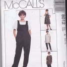 McCall's 8012 Pattern 6 8 10 Uncut Maternity Jumper Jumpsuit Top Pull On Pants