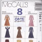 McCall's 7364 Pattern 8 10 12 Uncut Back Zip Dress Fit and Flare