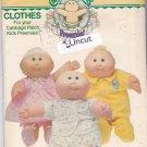 Butterick 3269 Pattern Uncut Cabbage Patch Kids Preemie CPK Clothes Jumpsuit Shirt Shorts Dress
