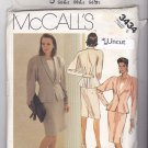 McCall's 3434 Pattern 6 Bust 30.5 Uncut Lined Shawl Collar Jacket Back Pleats Top Straight Skirt