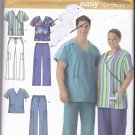 Simplicity 4101 Pattern xl xxl xxxl  chest 52-62 Uncut Scrubs Plus Size Men Women Unisex