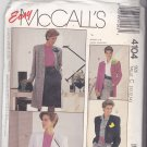 McCall's 4104 Pattern 10 12 14 Uncut Coat Jacket Long Short Sleeves Cropped Below Hip or Knee Length