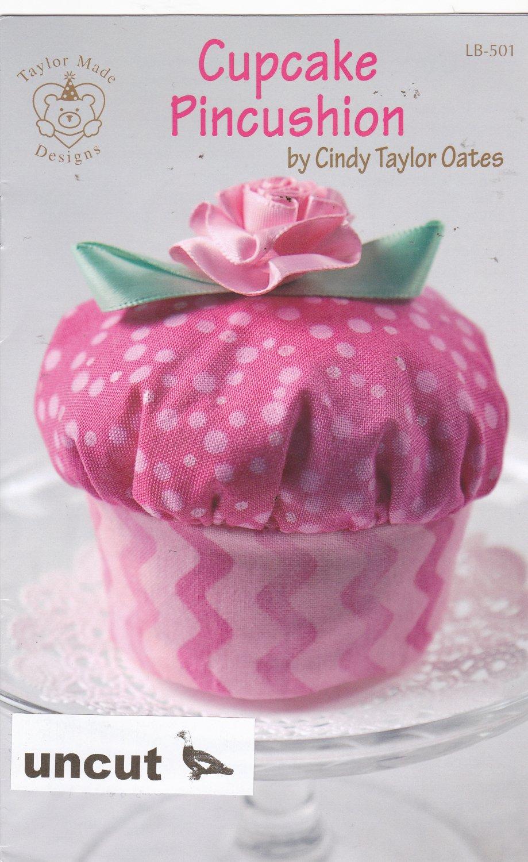 Cupcake Pincushion Pattern LB-501 Uncut Crafts Sewing Gift Cindy Taylor Oates Taylor Made Designs