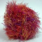 Fan-Pel Yarn 50 grams Bright Magenta Orange Eyelash Yarn