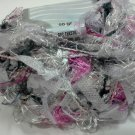 Ice Novelty Eyelash Paper Flag Yarn 50 grams Silver Pink Lilac