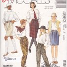 McCall's 4963 Pattern 6 8 10 Uncut Easy Pull On Pants Skirt Shorts Paperbag Waist
