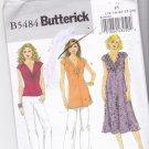 Butterick B 5484 Pattern uncut 16 18 20 22 24 Twist-Look Top Tunic Dress