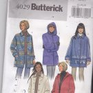 Butterick 4029 Pattern Uncut Button Front Below Hip Jacket Hood or Collar Easy