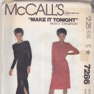 McCall's 7286 Pattern 14 Bust 36 Uncut Slim Fit Pullover Dress Leg Slit Easy to Sew