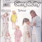 Simplicity 7032 Pattern Uncut Girls 3 4 5 6 6X Pajamas PJs Robe Sleepwear