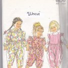 Simplicity New Look 6650 Pattern Uncut 2 3 4 5 6 Jumpsuit Girls Toddlers Ruffles