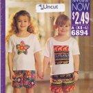 Butterick See & Sew Pattern 6894 Uncut XS S M L (2 3 4 5 6 6X) T-Shirt Shorts
