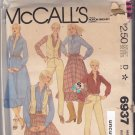 McCall's 6937 Pattern uncut 10 bust 32.5 Western Skirt with Ruffle Shirt Vest Pants with Yoke