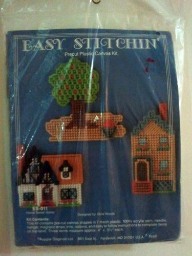 Kappie Originals Plastic Canvas Kit ES-011 Home Sweet Home Magnet Key Hook Kit