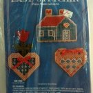 Kappie Originals Plastic Canvas Kit ES-002 Home N Hearts Magnet Key Hook Kit