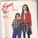 McCall's 9429 Uncut 7 8 10 12 14 Girls Jacket Pants Skirt Easy