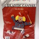 Clown with Balloon Jumping Jack Plastic Canvas Kit Joan Green BS130CB