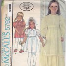 Vintage McCall Pattern 5792 Girls' Special Occasion Dress Laura Ashley 7