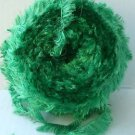 Partial Skein Green Eyelash Yarn 111g Unknown Brand