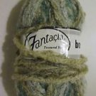 Fantacia Boemia Boucle Mohair Blend Yarn 50 grams #4509 Beige Cream Aqua