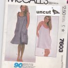 McCall 7603 Easy 90 Minute Dress Pattern Size 6 8 Beach Cover-Up uncut