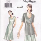 Vogue 9276 Easy Pattern 12 14 16 Dress Jacket Uncut