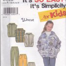 Simplicity 8305 Uncut Girls 7 8 10 12 14 16 Zip Hoodie Jacket Vest Pants Easy