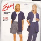 McCall's Stitch N Save 2562 Uncut 8 10 12 14 Short Sleeve Jacket Pants Shorts Easy