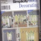 Simplicity 7885 Uncut Window Treatment Valance Panel Canopy DIY