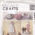 McCall's 2441 Pattern Uncut Angel Tree Topper Wall Decorations Ornaments Garland