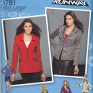 Simplicity 1781 uncut 6 8 10 12 14 Jacket with Variations Project Runway