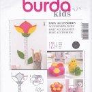 Burda 9555 Uncut Growth Chart Flower Pillow Softies Plushies Seedlings Teacup Tea Pot