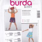 Burda 9549 Uncut 2 3 4 5 6 7 Applique Skirt Halter Top Girls Toddlers Easy