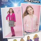 Simplicity 1548 Uncut Girls 8 10 12 14 16 Ruffle Hem Top Jacket Tiered Skirt Project Runway
