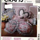 734 McCalls Crafts Pattern Pillows, Neckroll, Back Rest Uncut