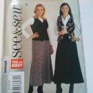 See & Sew 3941 Easy Lined Vest Bias Skirt Pattern 12 14 16 18 uncut