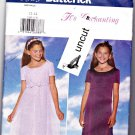 Butterick 5383 Pattern Girls 12 14 Lined Long Dress Empire Waist Occasion Uncut