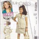 McCall MP210 Girl's Jacket Skirt Sewing Pattern size 7 8 10 uncut Hilary Duff