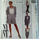 McCall 7539 Pattern Lined Jacket Skirt Pants Shorts Tank 12 14 16 Uncut